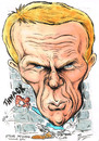 Cartoon: STEVE MCQUEEN (small) by Tim Leatherbarrow tagged steve,mcqueen,film,king,of,cool,great,escape,cooler