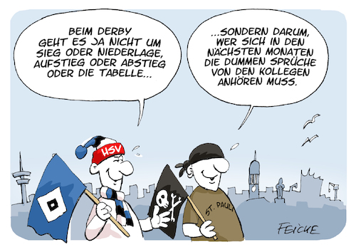 Derby Hsv St Pauli 2019 Von Feicke Sport Cartoon Toonpool