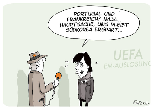 Cartoon: EM Auslosung (medium) by FEICKE tagged fußball,fussball,em,euro,2020,europameisterschaft,national,mannschaft,trainer,bundestrainer,jogi,löw,fußball,fussball,em,euro,2020,europameisterschaft,national,mannschaft,trainer,bundestrainer,jogi,löw