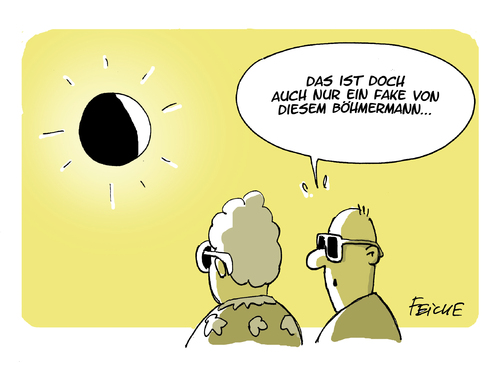 Cartoon: The sun only shines on tv (medium) by FEICKE tagged sonne,sonnenfinsternis,element,fake,böhmermann,medien,skandal,varoufakis,griechenland,jauch,stern,tv,schwindel,sonne,sonnenfinsternis,element,fake,böhmermann,medien,skandal,varoufakis,griechenland,jauch,stern,tv,schwindel