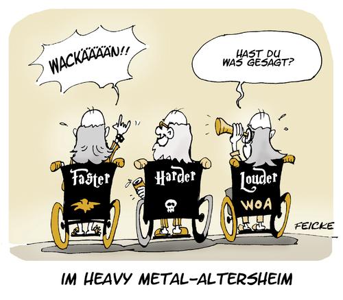 Wacken von FEICKE | Medien & Kultur Cartoon | TOONPOOL