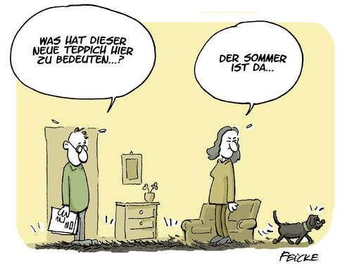 Wetterdienst auf vier Pfoten von FEICKE  Natur Cartoon