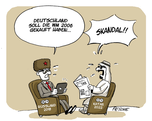 Wm 2006 Skandal Von Feicke Sport Cartoon Toonpool