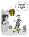 Cartoon: Coffee to go (small) by FEICKE tagged coffee,kaffeee,to,go,schuhe,chill,wellness,szene,cool,citizen,style