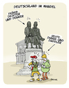 Cartoon: Land von Goethe und Chiller (small) by FEICKE tagged jugend,kultur,goethe,schiller,chiller,daddeln,digga,medien,konsum,literatur,buch,lesen,handy,tablet,neue