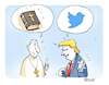 Cartoon: Trump Audienz (small) by FEICKE tagged trump,papst,pope,kirche,katholik,audienz,twitter,bibel,bible