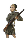 Cartoon: Roza Shanina (small) by jonmoss tagged roza,shanina,sniper,worldwarii