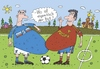 Cartoon: der Ball (small) by Sergei Belozerov tagged ball,mannschaft,elf,fussball
