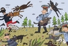 Cartoon: Die Polizeihunde (small) by Sergei Belozerov tagged polizei,police,hund,dog,kriminal