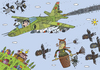 Cartoon: sky (small) by belozerov tagged sky,airplane,fighter,witch,owl