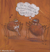 Cartoon: Ist es Liebe? (small) by monika boos tagged spinnen,liebe,hunger,appetit