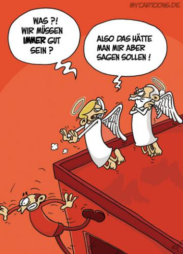 Cartoon: Engel Empörung (medium) by mil tagged engel,empoerung,fall,beschwerde,mil