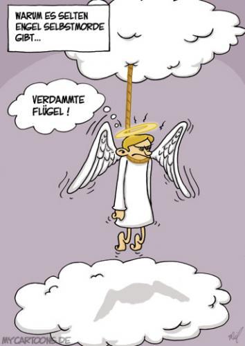 Engel Suizid Von Mil Philosophie Cartoon Toonpool