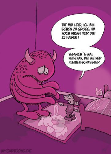 Cartoon: Monsterschreck (medium) by mil tagged monster,kind,angst,mil