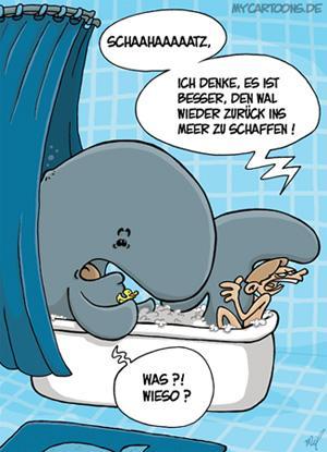 Walf hlbad von mil natur cartoon toonpool - Badezimmer comic ...