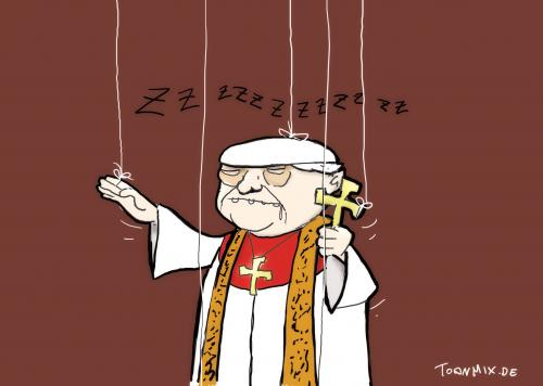 Cartoon: 23.. (medium) by Toonmix tagged papst,benedikt,vatikan,ultrakonservativ