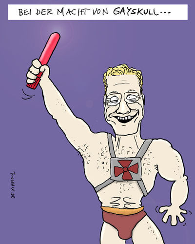 Cartoon: HE-MAN (medium) by Toonmix tagged guido,westerwelle,fdp,wahlen