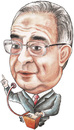 Cartoon: D. Mamdouh Abbadi of jordan (small) by samir alramahi tagged mamdouh,abbadi,jordan,arab,ramahi,cartoon,portrait