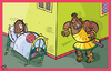 Cartoon: Um die Ecke (small) by Sergey Repiov tagged othello,desdemona,shakespeare