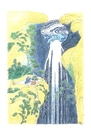 Cartoon: Waterfall-TV (small) by Erwin Pischel tagged hokusai,wasserfall,waterfall,fernsehen,tv,regenerative,energie,pischel
