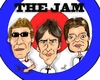 Cartoon: The Jam (small) by Mark Anthony Brind tagged paul weller rick buckler bruce foxton the jam caricature mark anthony brind mod