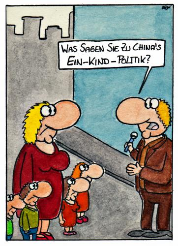 Cartoon: Ein-Kind-Politik (medium) by spass-beiseite tagged ein,kind,politik,china,asien,überbevölkerung,kinder,eltern,reporter,milliarden,menschen,millionen,beiseite,spass,unterhaltung,panel,fun,illustration,design,pointe,kunst,comicstrips,comictagebuch,tagebuch,comic,cartoons,cartoon,witz,bildwitz