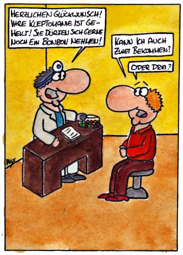 Cartoon: Kleptomanie (medium) by spass-beiseite tagged kleptomanie,arzt,krankheit,sammeln,sammlung,klauen,stehlen,kaufen,mitnehmen,patient,beiseite,spass,unterhaltung,panel,fun,illustration,design,durst,krank,erschöpft,sahara,gobi,pointe,kunst,comicstrips,comictagebuch,tagebuch,comic,cartoons,cart