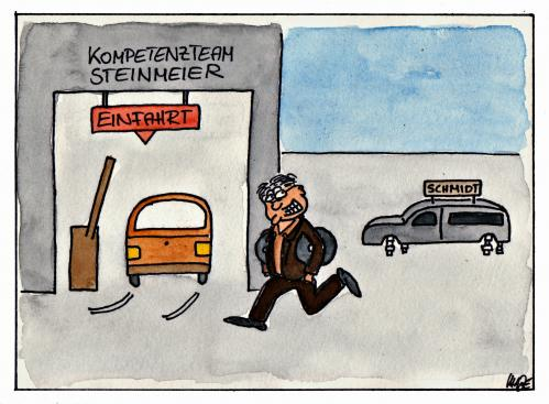 Cartoon: Kompetenzteam Steinmeier (medium) by spass-beiseite tagged steinmeier,kompetenzteam,merkel,ulla,schmidt,spd,bundestag,wahl,beiseite,spass,unterhaltung,panel,fun,illustration,design,pointe,kunst,comicstrips,comictagebuch,tagebuch,comic,cartoons,cartoon,witz,bildwitz