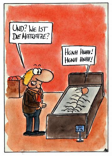 Matratzen comic  Matratze von spass-beiseite | Medien & Kultur Cartoon | TOONPOOL