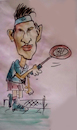 Cartoon: federer (small) by kolle tagged federer,wimbledon,tennis,ball