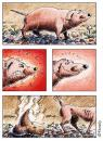 Cartoon: Verdaungsprobleme (small) by neophron tagged cartoon,satire,animals,tiere