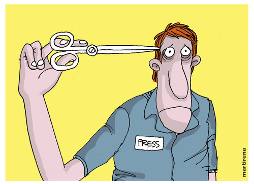 Cartoon: Self censorship (medium) by martirena tagged censorchip,the,media