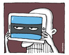 Cartoon: Ciber Attack (small) by martirena tagged cyber,attakc,identity
