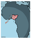 Cartoon: Nigeria free of Ebola (small) by martirena tagged liberia,ebola,free