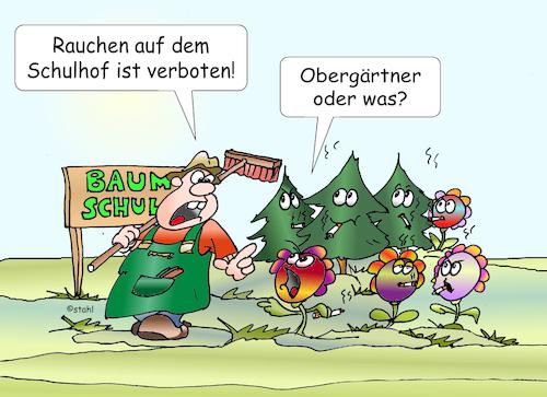 Rauchen in der Schule von wista | Medien & Kultur Cartoon ...