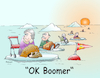 Cartoon: OK Boomer (small) by wista tagged generation,baby,boomer,meme,konflikt,alt,alter,resourcen,eltern,kinder,besserwisser,eisscholle,generationenkonflikt,altenteil,rückzug,rente,pension,einmischung,opa,oma,grosseltern