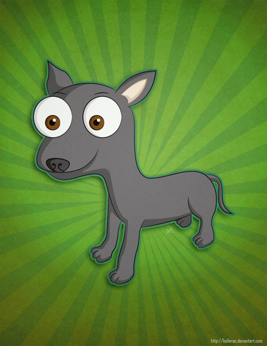 Cartoon: A random Xoloitzcuintli (medium) by kellerac tagged kellerac,mexican,perro,dog,caricatura,cartoon,xoloitzcuintli