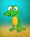 Cartoon: A random Crocodile (small) by kellerac tagged crocodile,cartoon,caricatura,cocodrilo,nature,animal,kellerac