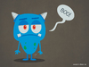 Cartoon: Boo! (small) by kellerac tagged vector,mexico,cartoon,blue,monster,boo,funny