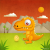 Cartoon: Dino Mom (small) by kellerac tagged dinosaur,cartoon,mom,egg,hatching,maria,keller,prehistoric