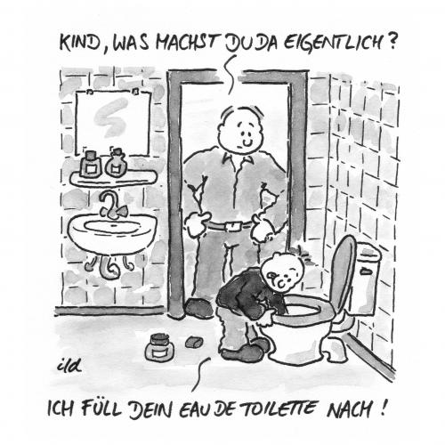 eau de toilette von achecht forschung technik cartoon toonpool. Black Bedroom Furniture Sets. Home Design Ideas