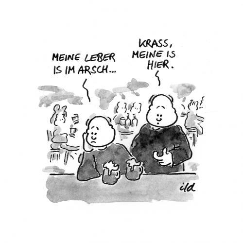 Leber im Arsch von achecht | Philosophie Cartoon | TOONPOOL