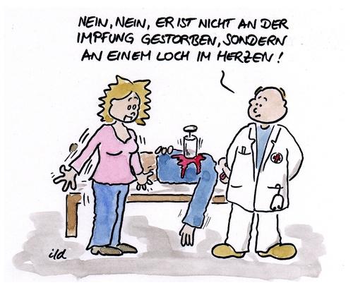 Nicht an der impfung gestorben von achecht politik cartoon toonpool - Morgenlatte lustig ...