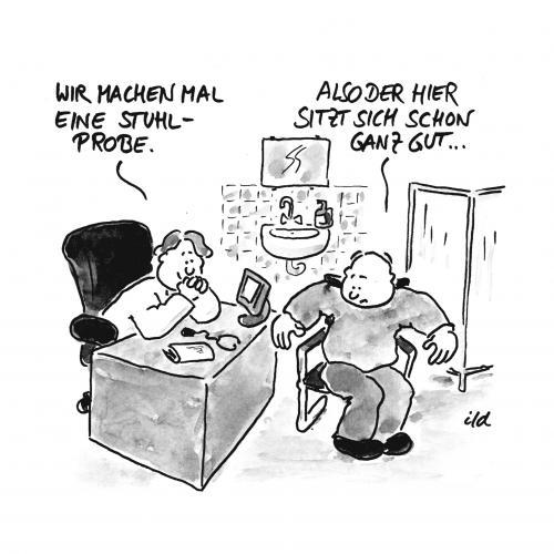 Stuhlprobe Von Achecht Philosophie Cartoon Toonpool