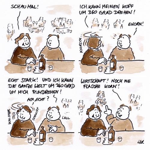Welt drehen von achecht   Philosophie Cartoon   TOONPOOL