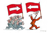 Cartoon: Flag (small) by Dubovsky Alexander tagged flag,demonstration,protest