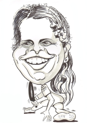 Cartoon: Kim Clijsters (medium) by cabap tagged caricature