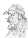 Cartoon: Bode Miller (small) by cabap tagged caricature