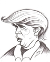 Cartoon: Donald John Trump (small) by cabap tagged caricature