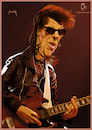 Cartoon: Link Wray (small) by szomorab tagged link,wray,rumble,poster,caricature